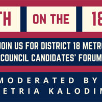 Metro Council District 18 candidates' forum June 18