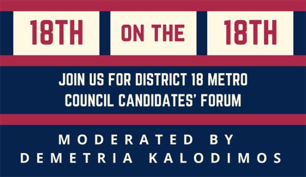 Metro Council District 18 candidates' forum June 18