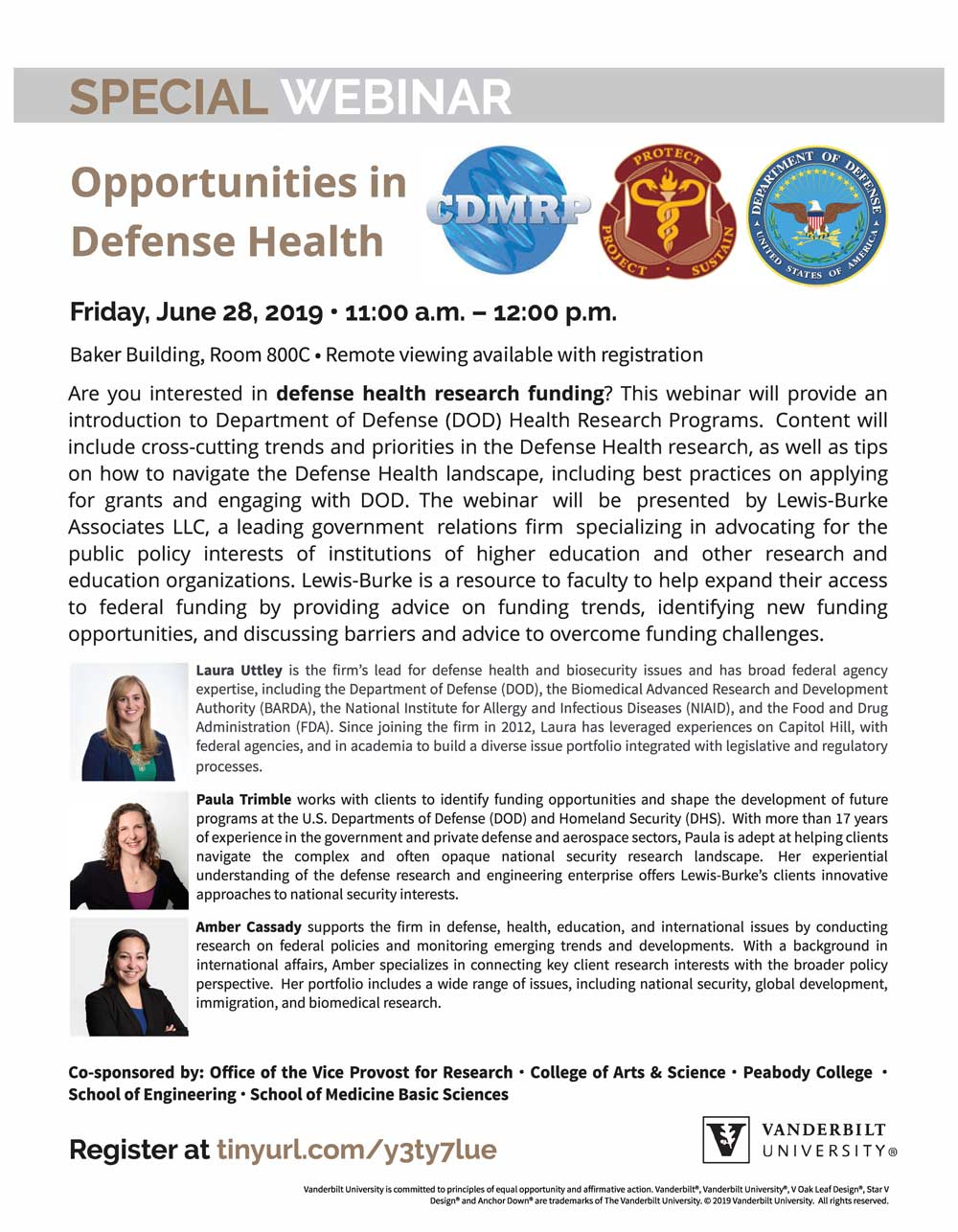 Webinar: Opportunities in Defense Health