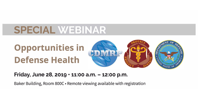 Webinar: Opportunities in Defense Health June 28