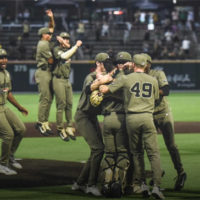 The Vanderbilt baseball team clinches a berth in the 2019 College World Series with a win over Duke. (Vanderbilt University)