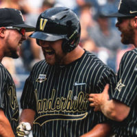 Vanderbilt senior Stephen Scott crushed two home runs and right-handed freshman pitcher Kumar Rocker was elusive as the Commodores advanced with a 6-3 win against Mississippi State at TD Ameritrade Park on Wednesday, moving to within one win of the College World Series finals.