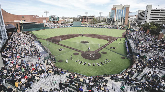 Vanderbilt's Hawkins Field, home of the Commodore baseball team. (Vanderbilt University)