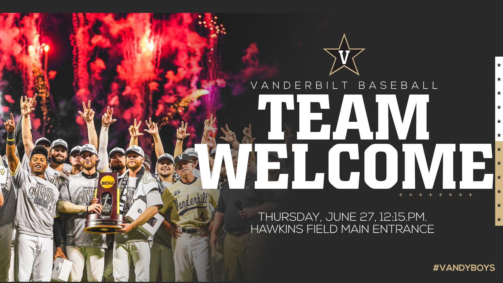Baseball team welcome