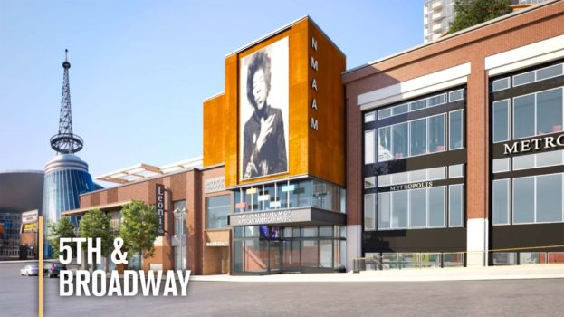 architecutral rendering of National Museum of African American Music