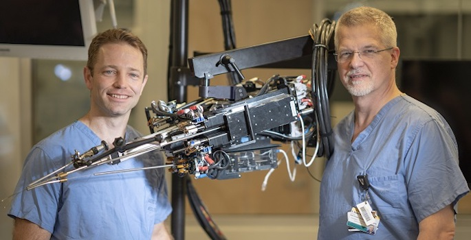 Surgical robots developed by Vanderbilt researchers could make radical prostatectomy safer and less invasive