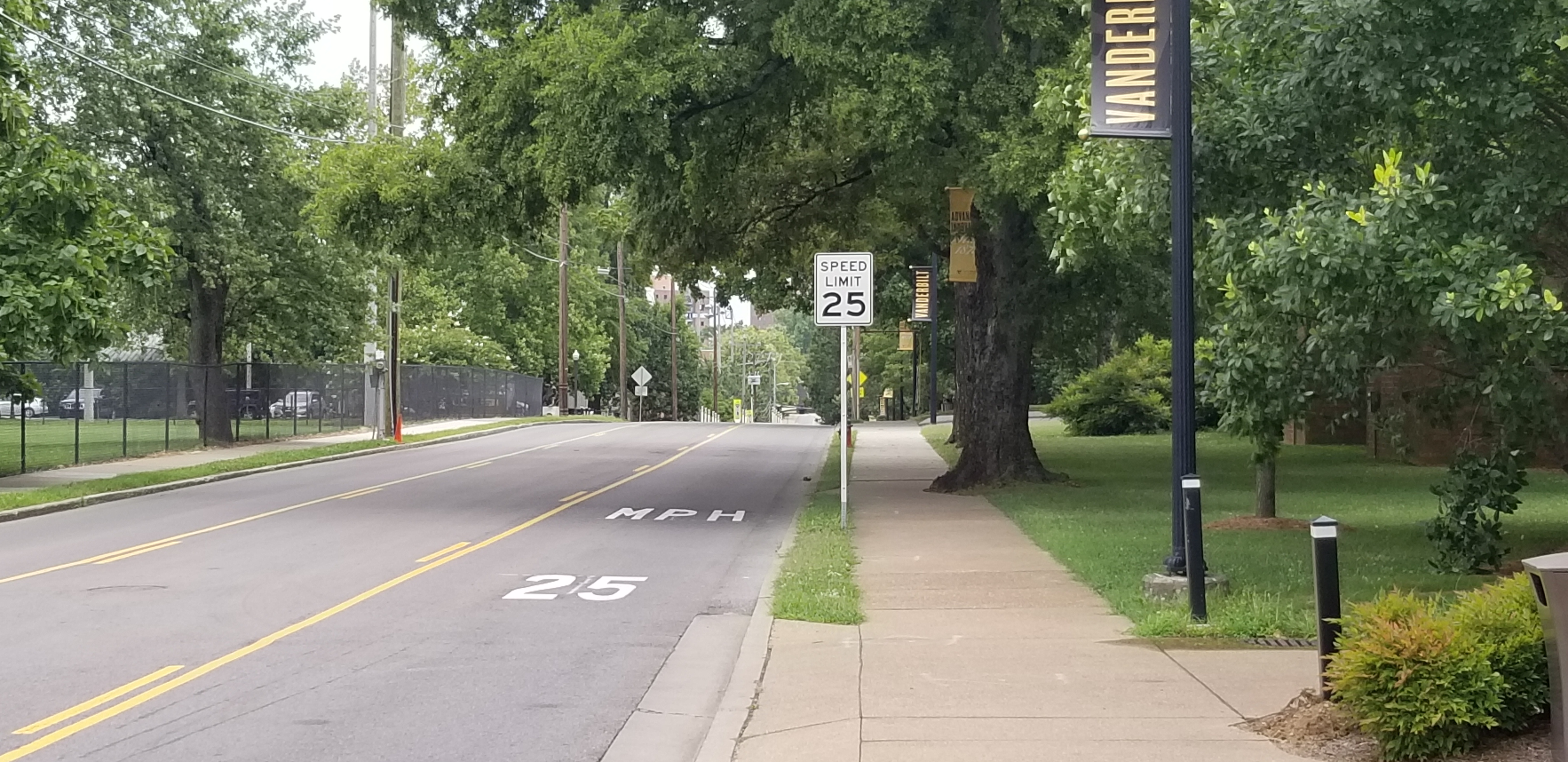 Campus speed limit