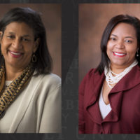 Gail Williams and Consuelo Wilkins, 2019 inductees for the Academy for Women of Achievement (Vanderbilt University)
