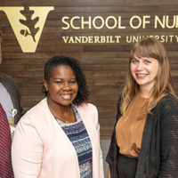 Left, Vanderbilt School of Nursing faculty Christian Ketel, Courtney Pitts, Leah Branam and Pam Jones will use HRSA grants to increase the number of nurse practitioners in rural and medically underserved areas. (John Russell/Vanderbilt)