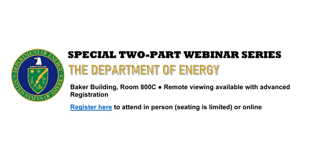 Photo for Department of Energy webinar on federal funding set for Sept. 26