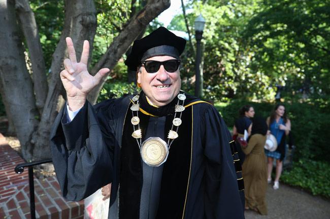 Chancellor Nicholas S. Zeppos at Commencement. (Vanderbilt University)