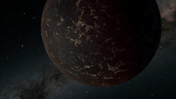 NASA/JPL-Caltech illustration of LHS 3844b