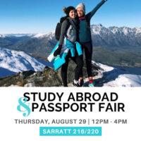 Study Abroad and Passport Fair logo