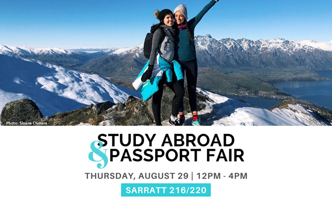 Study Abroad and Passport Fair set for Aug. 29