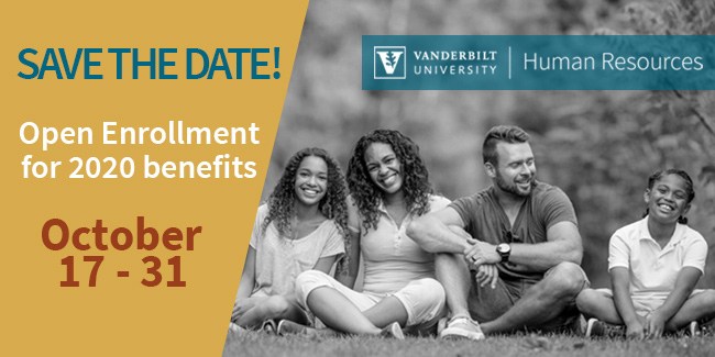 Save the Date: Open Enrollment is Oct. 17-31, 2019