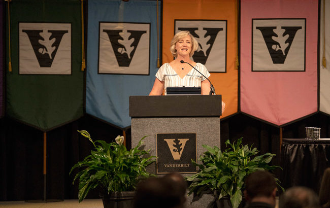 Wente charts path forward at Fall Faculty Assembly
