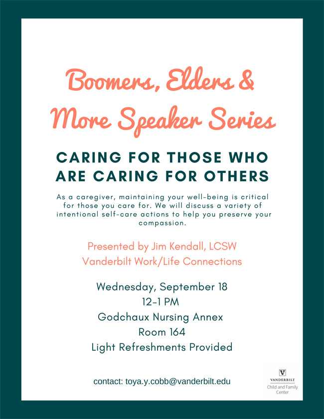 Boomers, Elders and More flyer