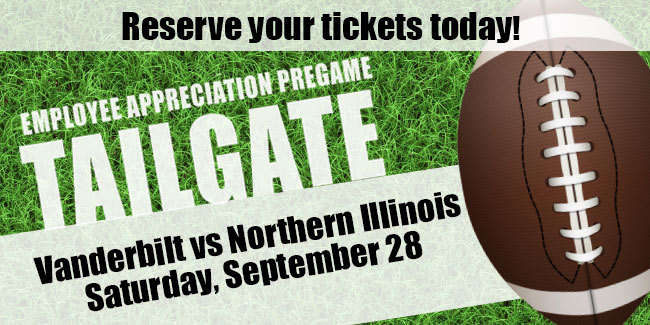 Reserve tickets for Employee Appreciation Pregame Tailgate