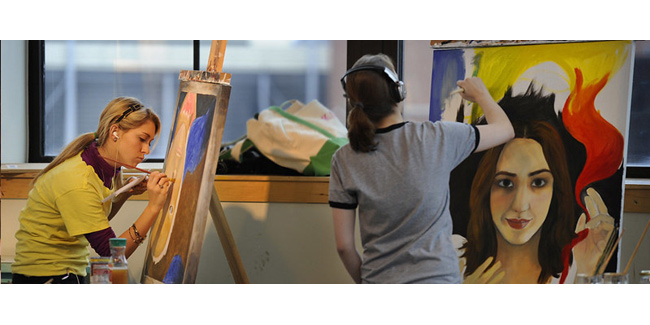 Student artists at work (Vanderbilt University)