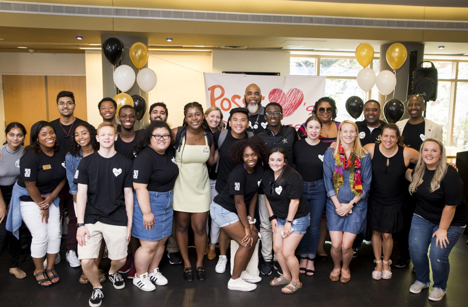 Posse Scholars program celebrates their 30th anniversary at the Sarratt Student Center Promenade. (Susan Urmy/Vanderbilt)