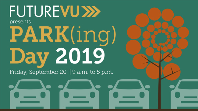 FutureVU Parking Day 2019 event graphic