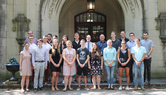 The master's program in biomedical sciences recently welcomed 16 students to its newest cohort. The program, which launched last year, prepares students for a broad array of health professional careers. (Denise Malone/Vanderbilt)