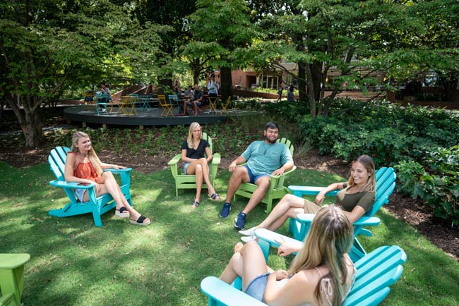 The redesign of Fleming Yard was a collaborative effort among students, faculty and administrators from the Division of Administration. (Joe Howell/Vanderbilt)