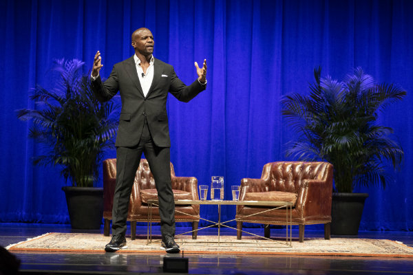 Actor and activist Terry Crews spoke with humor and passion about his life story (Joe Howell/Vanderbilt University)