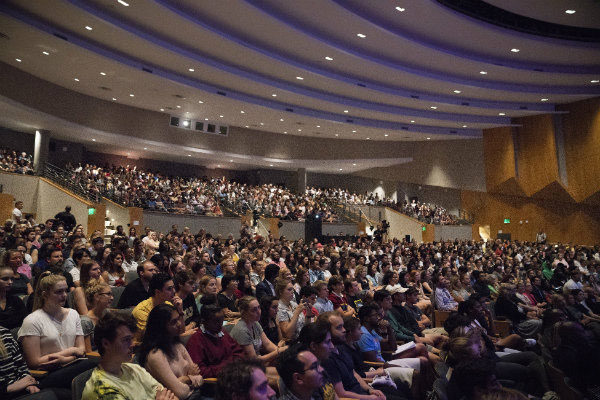 Langford Auditorium was at capacity for the Sept. 9 Chancellor's Lecture by actor and activist Terry Crews. (Joe Howell/Vanderbilt)