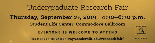 2019 Undergraduate Research Fair banner