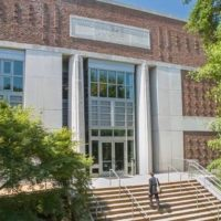 Photo of Vanderbilt Law School front door and stairs
