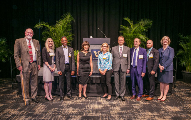 Eight new endowed chair holders honored