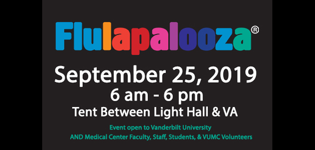 Flulapalooza 2019 is Sept. 25