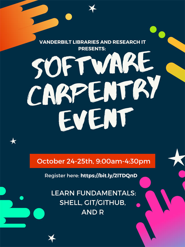 Software Carpentry event poster