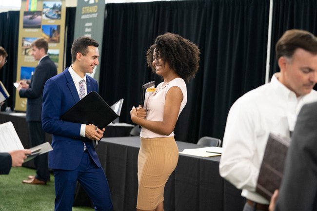 The Career Center provides ongoing opportunities for students to learn about and explore professional opportunities throughout the academic year, including career coaching, workshops, career panels, career fairs, industry treks and more. (Joe Howell/Vanderbilt)