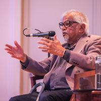 "Activist and author Arun Gandhi, the grandson of Mohandas ""Mahatma"" Gandhi, gave the Peabody College Dean's Diversity Lecture on Sept. 16. (Anne Rayner/Vanderbilt)"