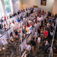 The sixth annual Undergraduate Research Fair, held Sept. 19 at the Student Life Center, provided students a forum in which to showcase their research conducted across all fields and disciplines. (Anne Rayner/Vanderbilt)