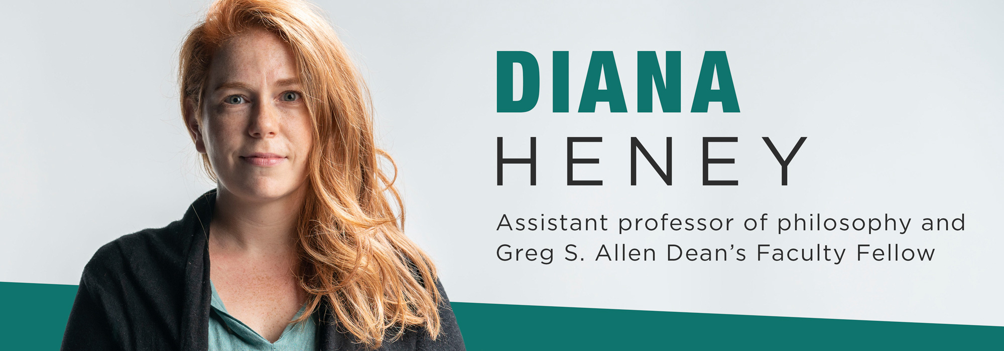 New faculty Diana Heney: 'Ethics Backwards and Forwards'