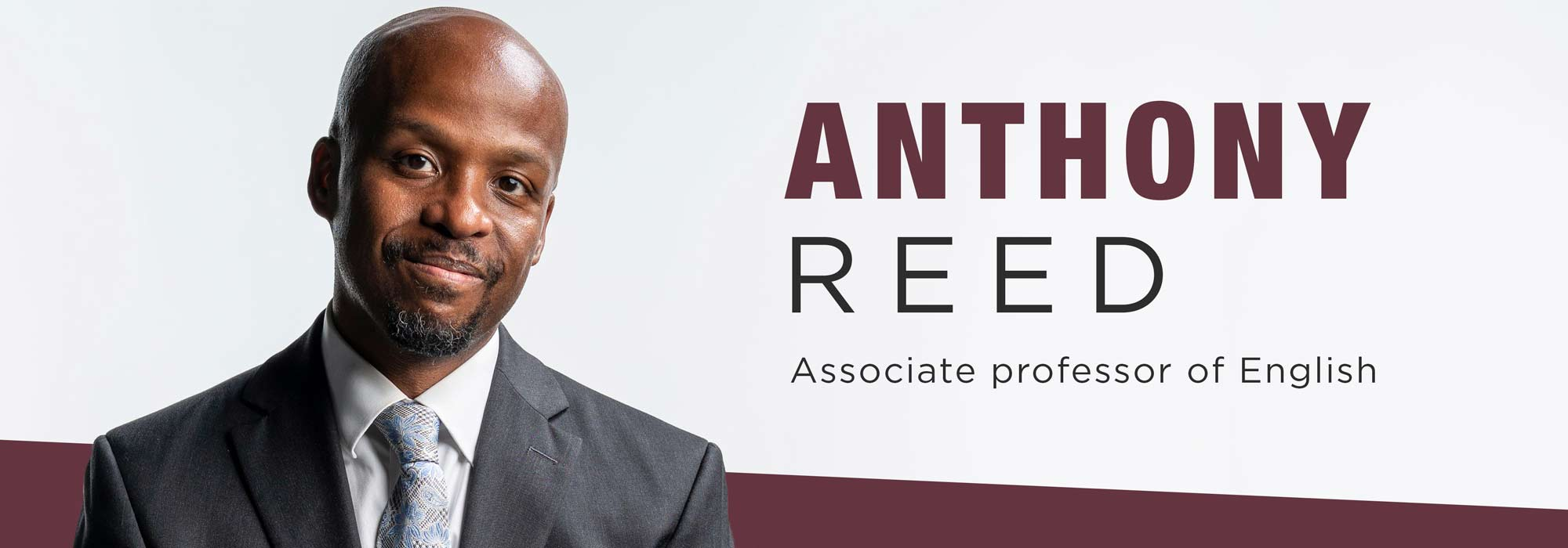 New faculty Anthony Reed: The poetics and politics of black literature