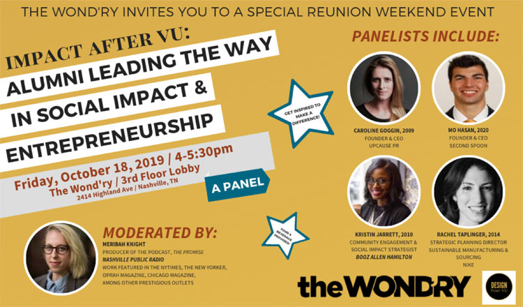 Impact After VU panel discussion flyer