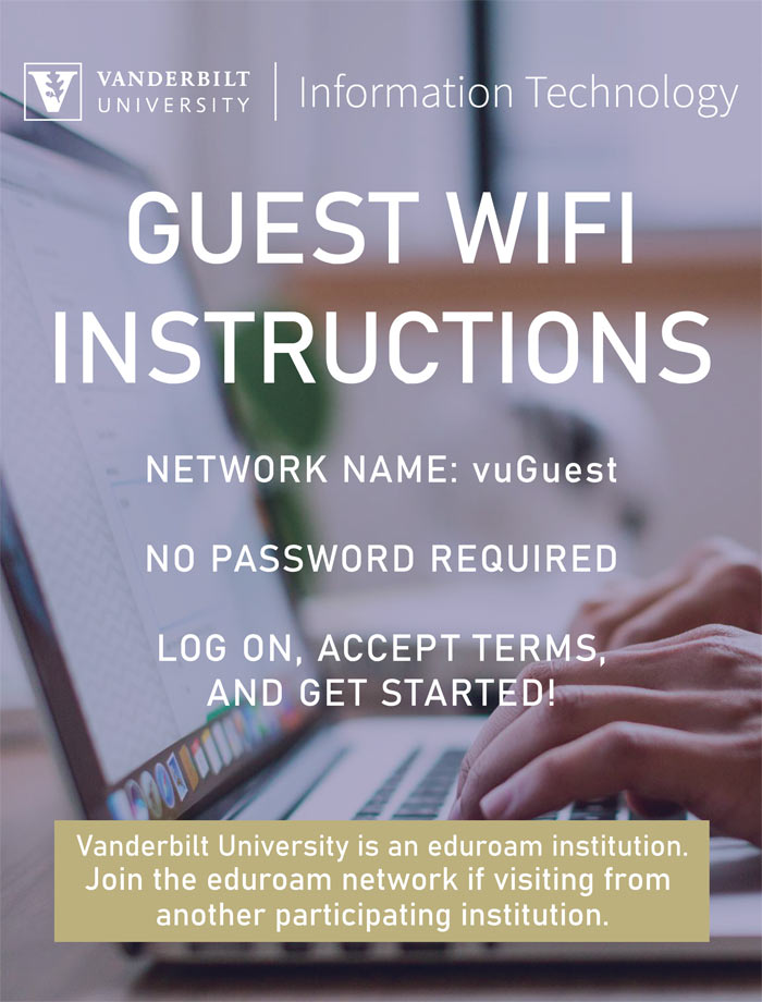 Guest Wi-Fi instructions flyer