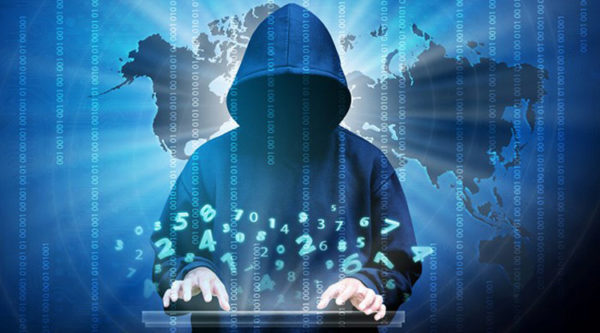 Cyber criminal stock image