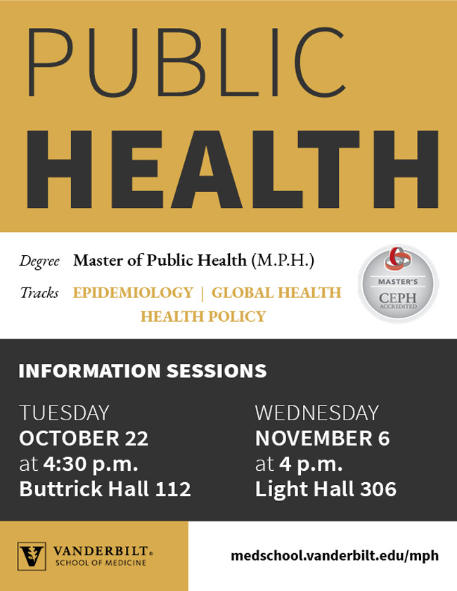 Master of public health information sessions