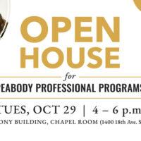 Peabody Professional Programs open house