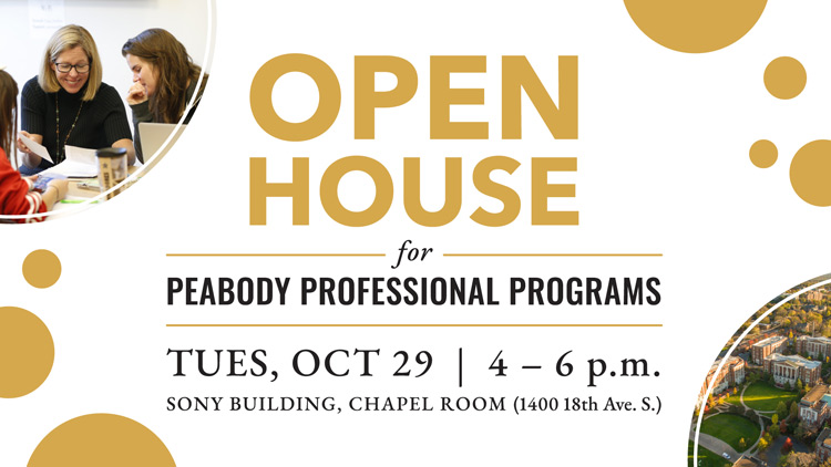 Peabody Professional Programs open house