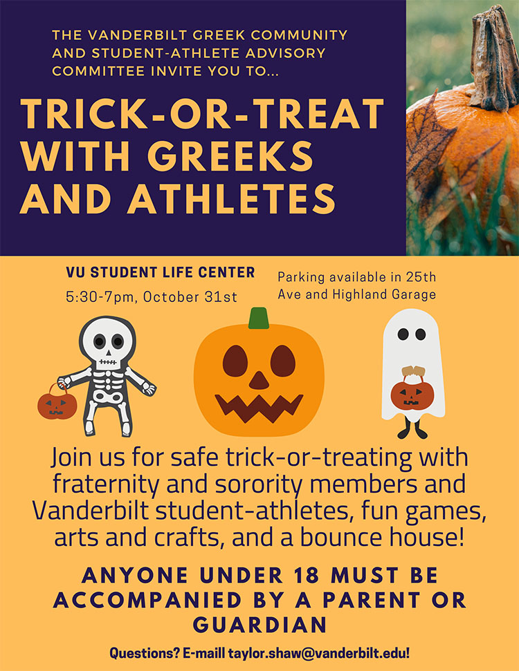 Trick-or-Treay with the Greeks and Athletes 2019