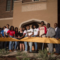 The new National Pan-Hellenic Council House house ribbon-cutting at Vanderbilt University on Oct. 18, 2019. (Price Chambers for Vanderbilt University)