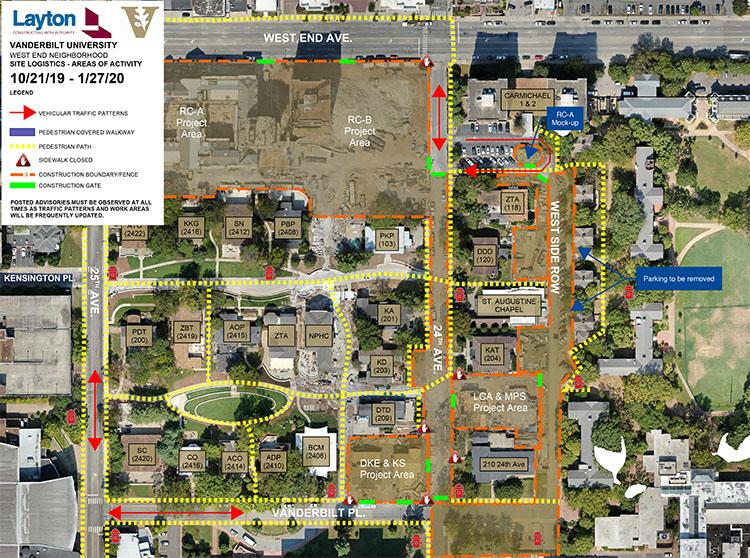 West End Neighborhood road closure map