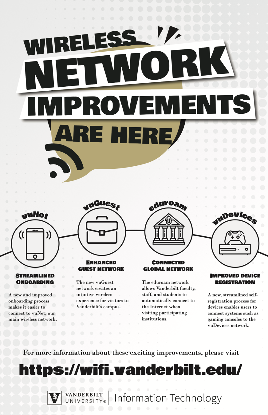 wireless network improvements VUIT flyer