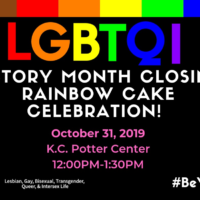 LGBTQI History Month Closing Rainbow Cake Celebration flyer